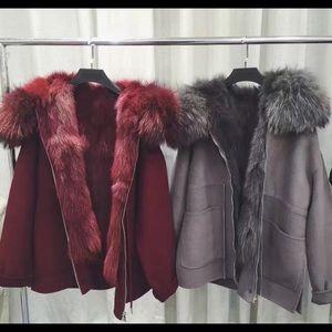 Premium Wool and Fox Fur Coat